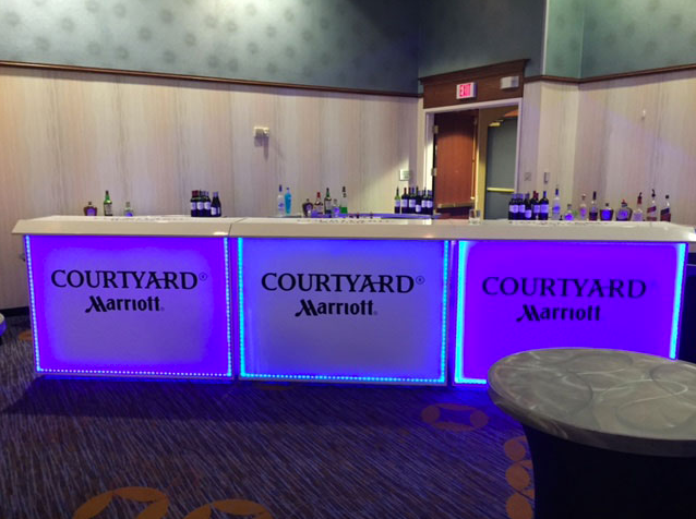 Courtyard Marriottu0027s Professional Portable Bar With LEDu0027s And Graphics Made  By The Portable Bar Company Https
