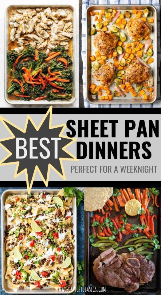 11 Mouthwatering Sheet Pan Dinners #healthyweeknightmeals