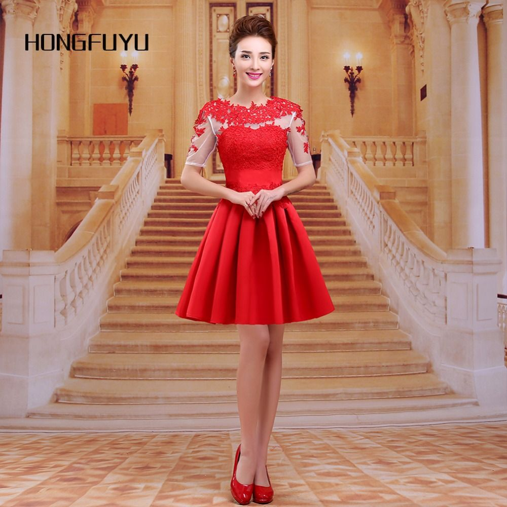 Red appliques prom dresses scoop backless prom dress a line