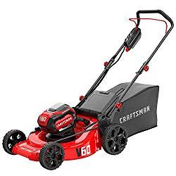 Craftsman V60 3 In 1 Cordless Lawn Mower 21 Inch Cmcmw260p1 Cordless Lawn Mower Lawn Mower Best Lawn Mower