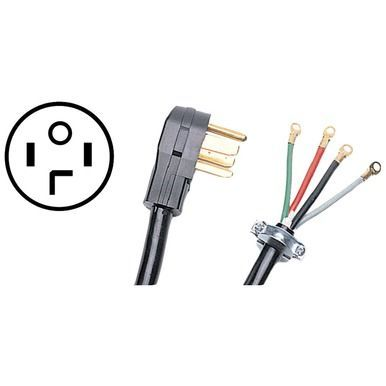 CERTIFIED APPLIANCE 90-2020 4-Wire Dryer Cord, 30 Amps (4ft ...