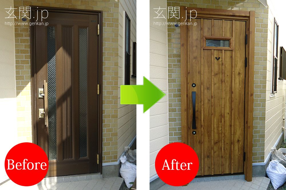 玄関リフォームの施工事例 三協アルミ 画像あり 玄関