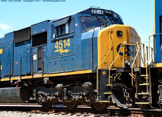 CSX Engine No. 4514, locomotive 4 out of 11 engines