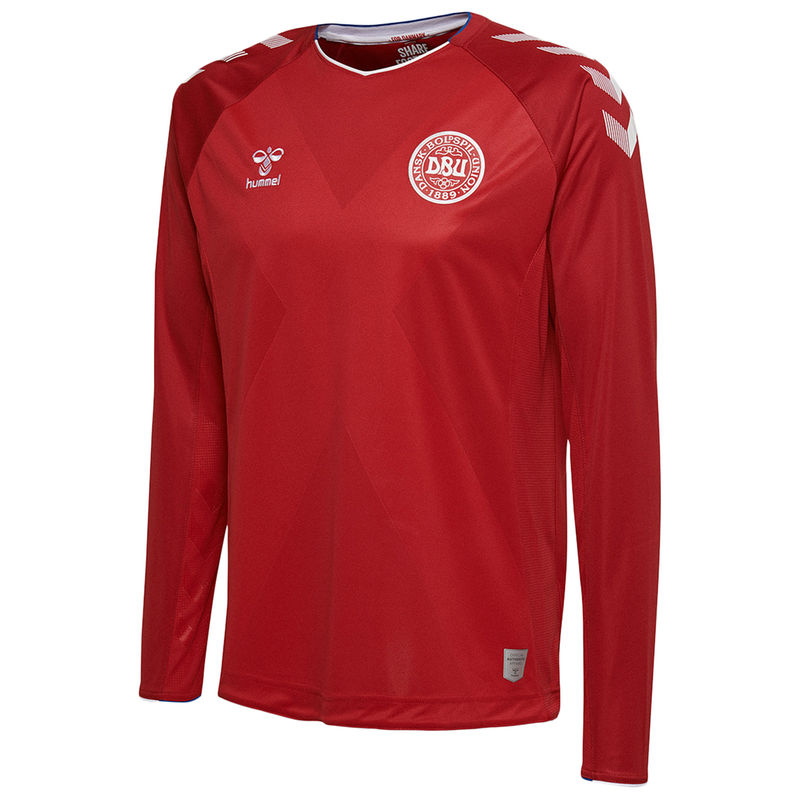 official photos 968ac 22fa0 Denmark National Team 2018/19 Home Long Sleeve Jersey - Red ...