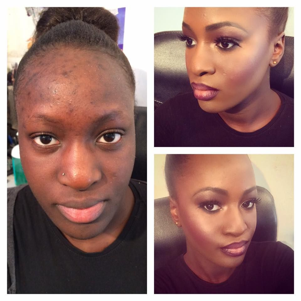 before and after makeup african skin mugeek vidalondon