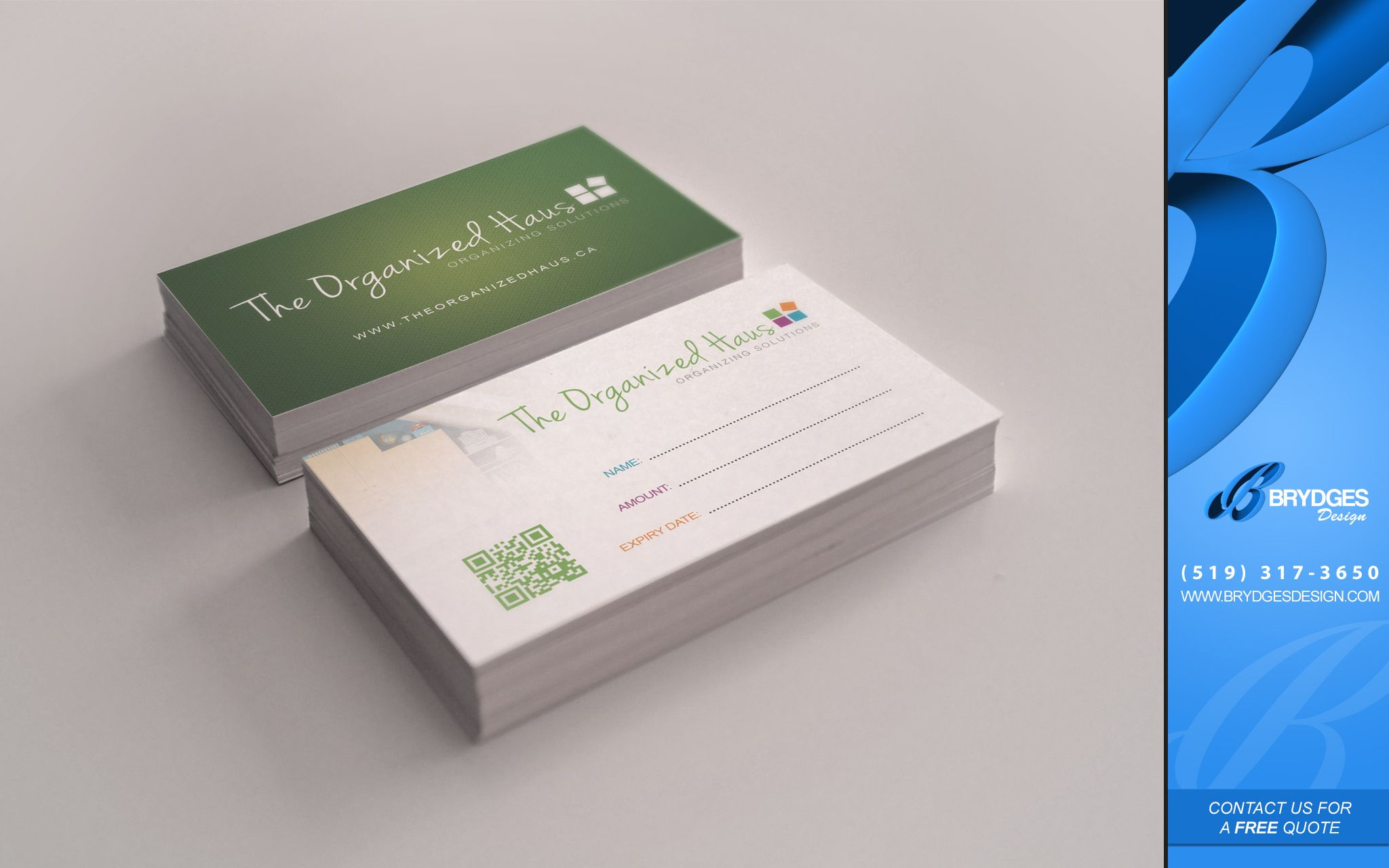 Business card printing in london httplondon business cards the organized haus gift cardsbusiness cards london ontario brydges design reheart Choice Image