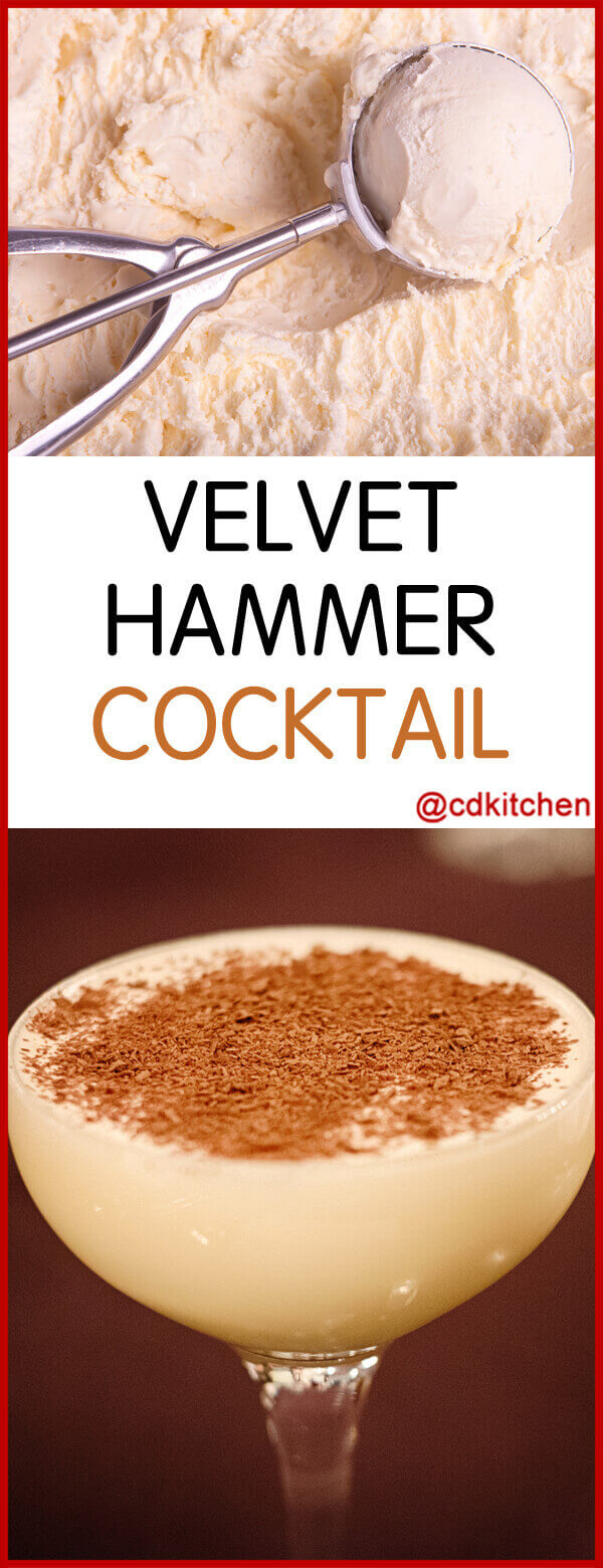 Velvet Hammer Cocktail Cointreau Brandy And Creme De Cacao Blended With Vanilla Ice Cream F Ice Cream Cocktails Ice Cream Drinks Alcoholic Ice Cream Drinks
