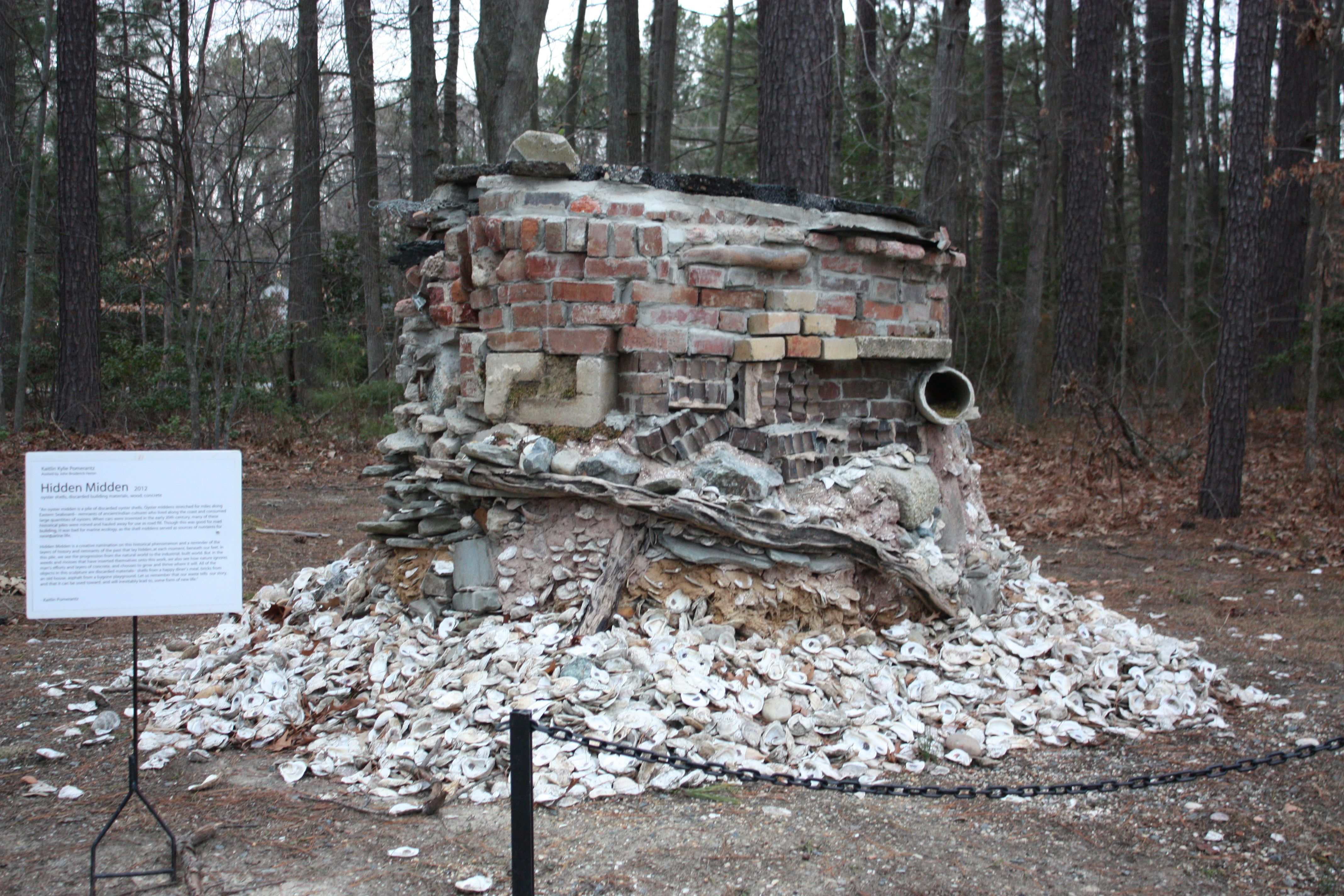 Rediscovered ruin - Annmarie Gardens in January - Solomons, MD by MMcDowell