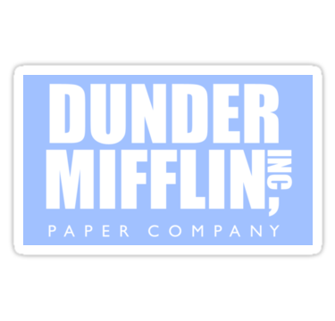 The Office Dunder Mifflin Paper Company Sticker By Decentart The Office Stickers Paper Companies Red Bubble Stickers