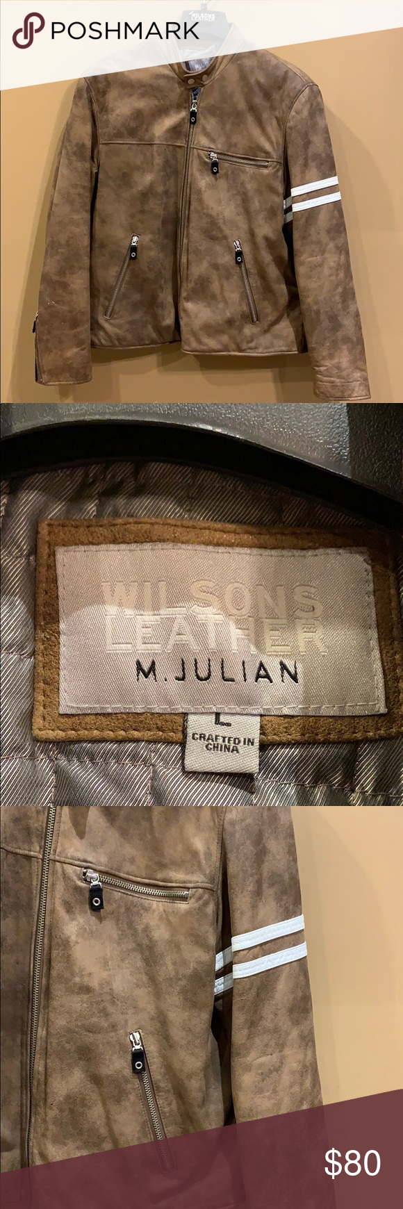 Light brown M Julian Wilson Leather Jacket in 2020