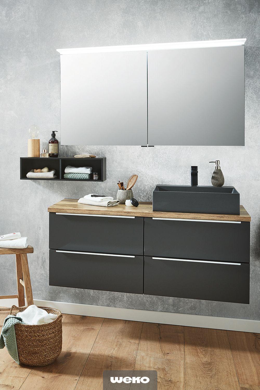 Die Besten Einrichtungsideen Furs Badezimmer Waschbecken Schwarz Spiegelschrank Badezimmer