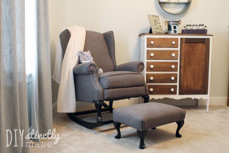 Diy pottery barn rocking chair wingback rocking chair