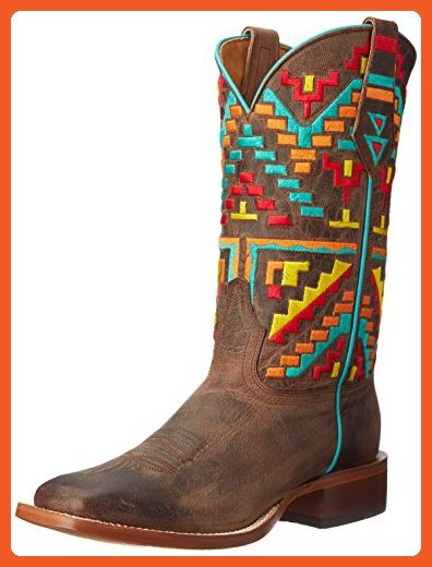 1b3b6e41481 Johnny Ringo Women's Aztec Riding Boot, Bone, 7 B US - Boots for ...