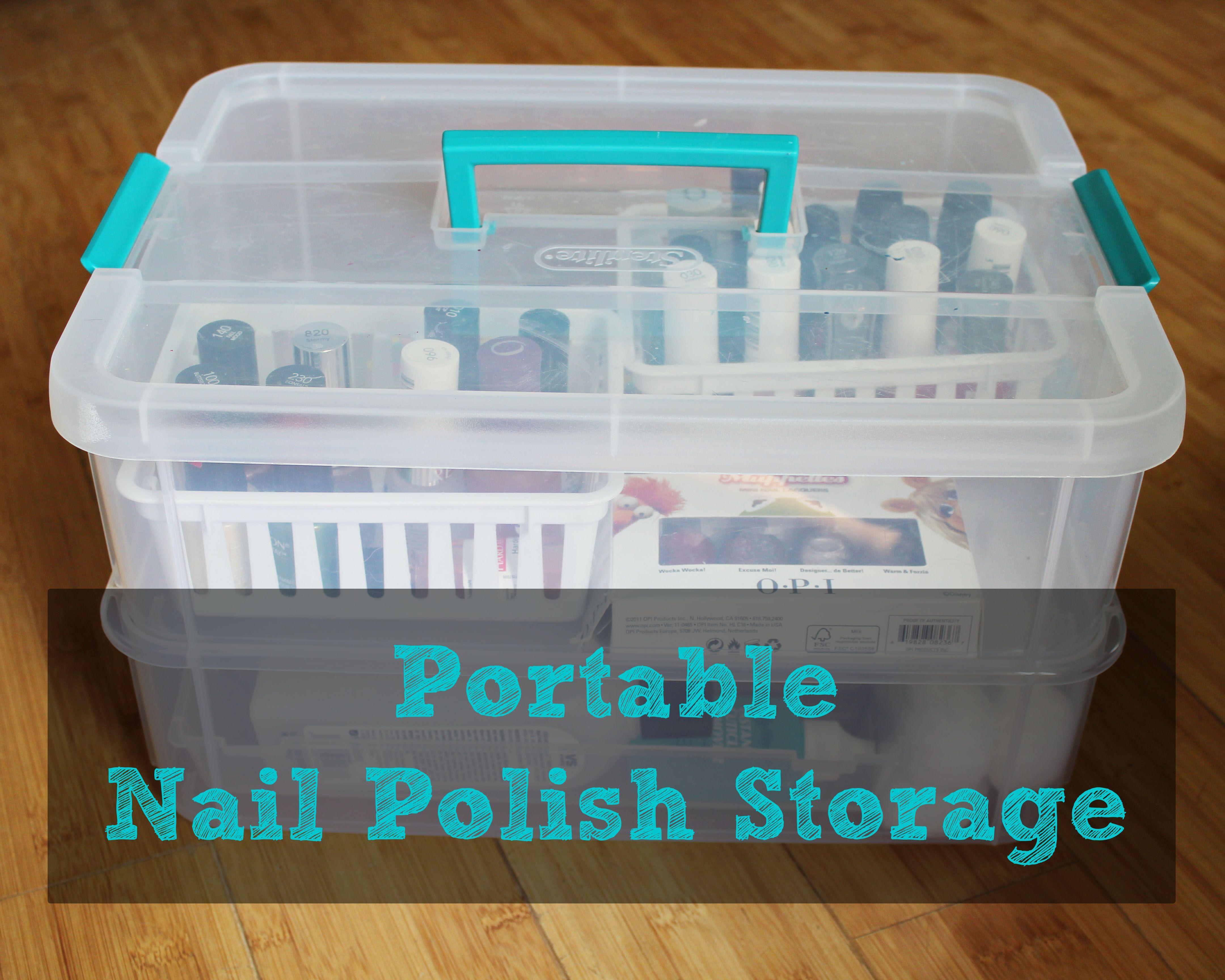 Portable Nail Polish Storage | Organizations, Storage and Organizing