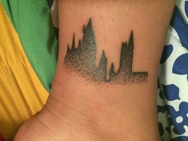 This outline of Hogwarts.   Harry potter tattoos, Tattoos