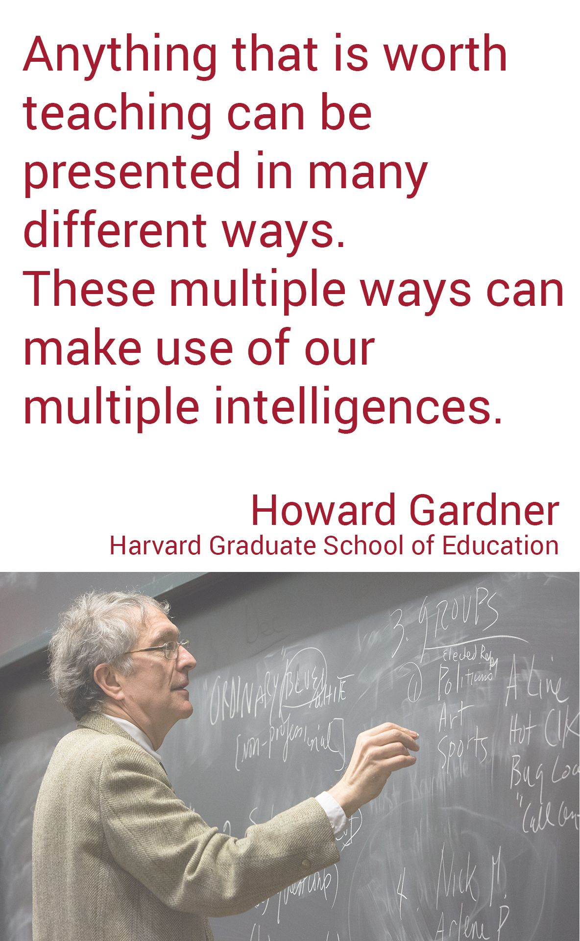 Howard Gardner, Harvard Graduate School of Education