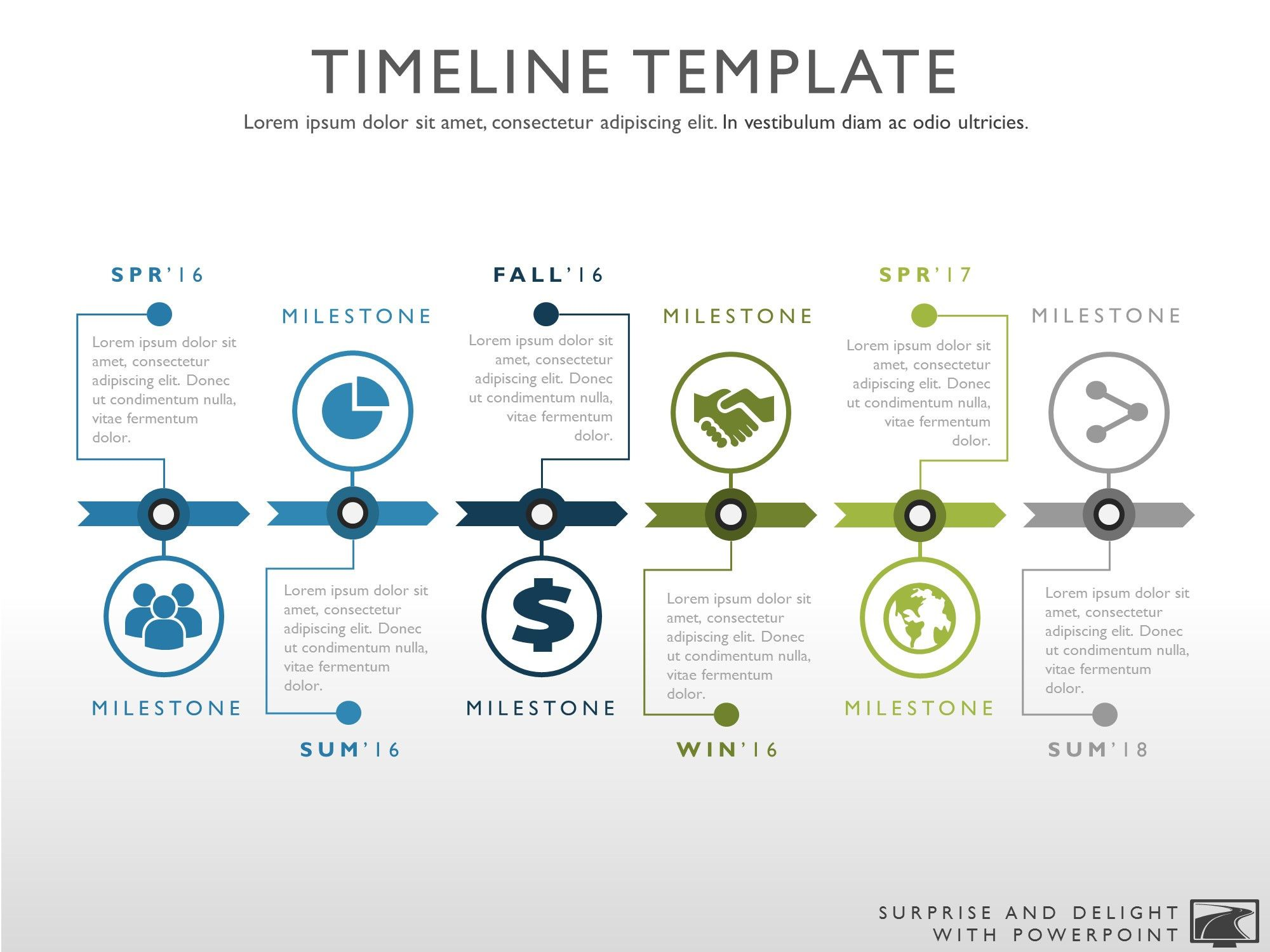 Timeline template for Powerpoint. Great project management ...