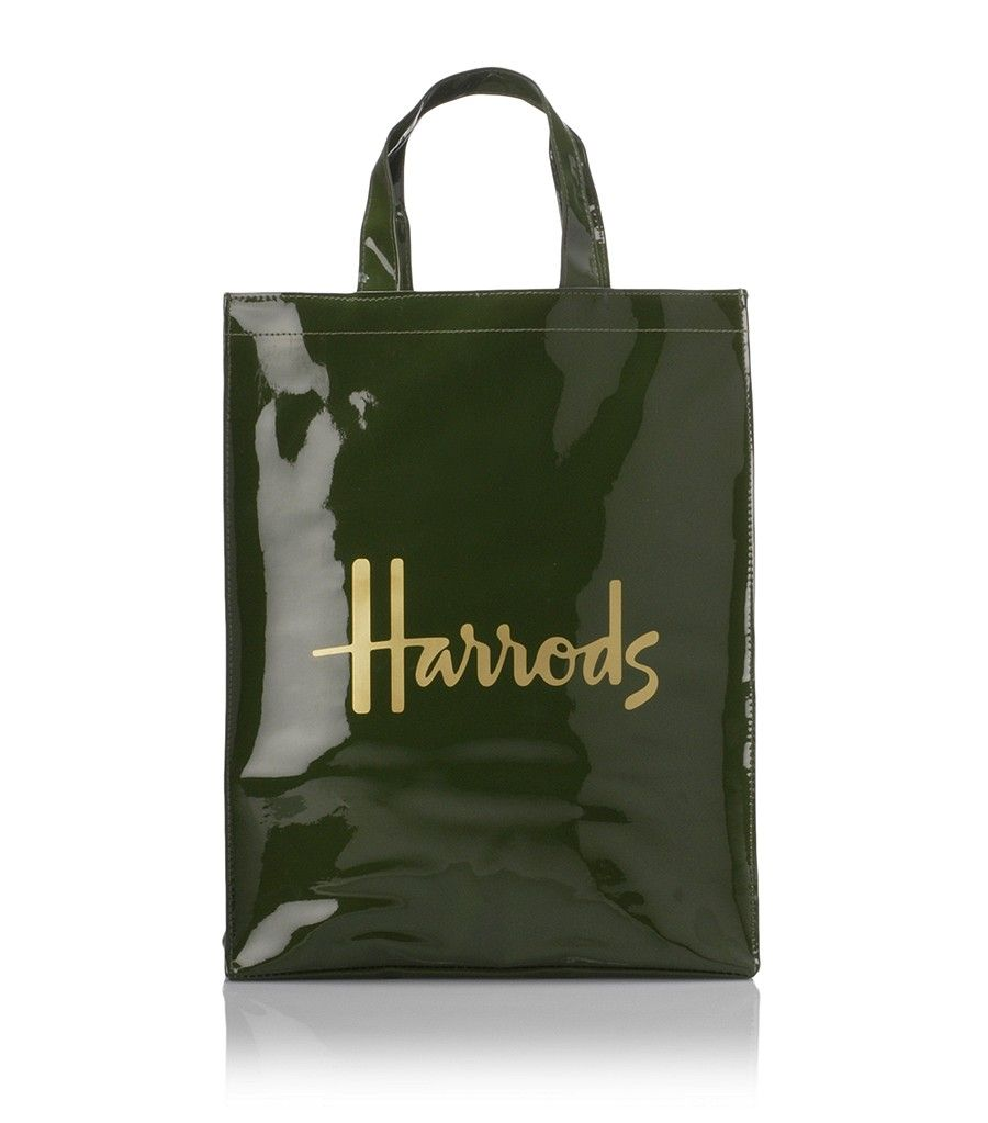 harrods famous green and black shopping tote bags. Black Bedroom Furniture Sets. Home Design Ideas