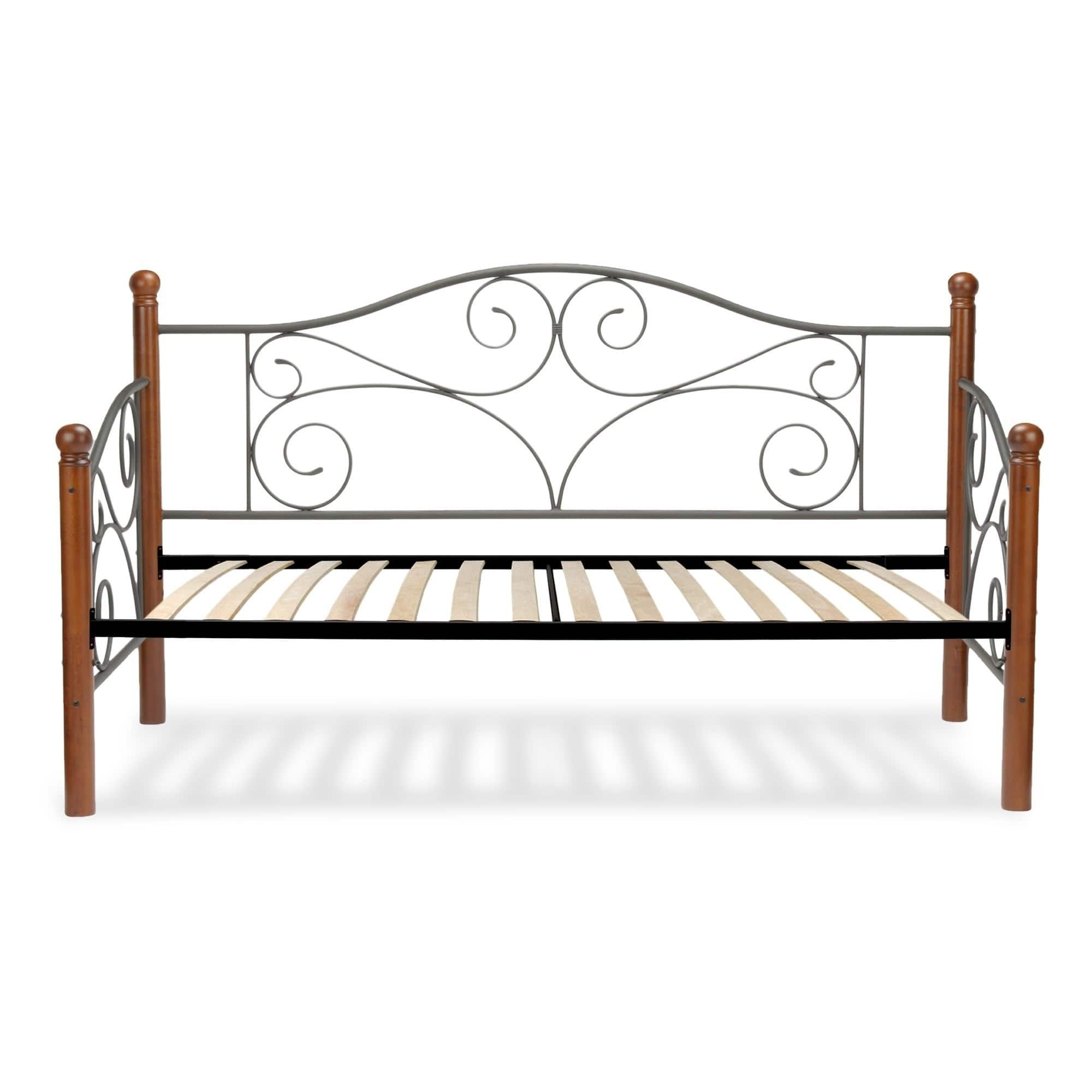 fashion bed group doral complete scrolled metal spindle paneled euro