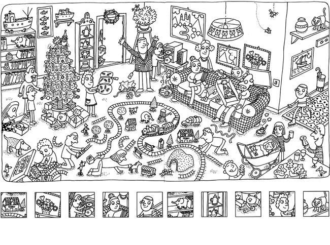 tiger picnic hidden picture coloring page hide and seek pinterest coloring hidden pictures and picnics