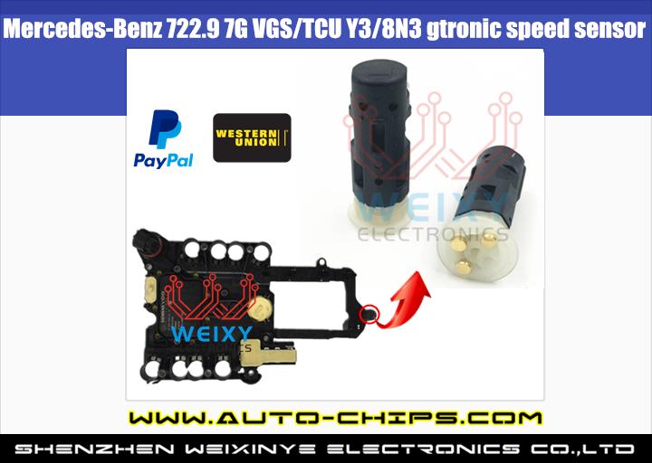 Mercedes-Benz 722 9 7G VGS/TCU Y3/8N3 gtronic speed sensor Fault