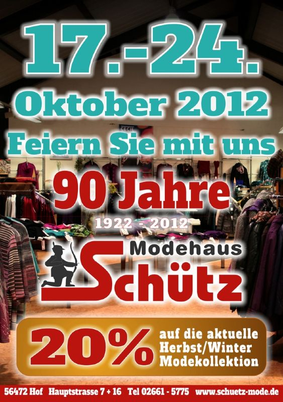 90 Jahre Modehaus Schütz Hof – Plakatentwurf | fashion⎮trends⎮design