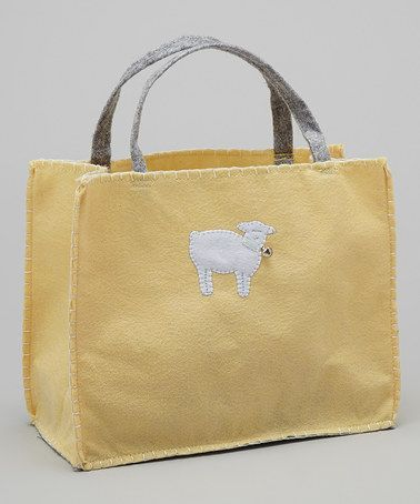 This Yellow Lamb Gift Bag by Groovy Holidays is perfect! #zulilyfinds