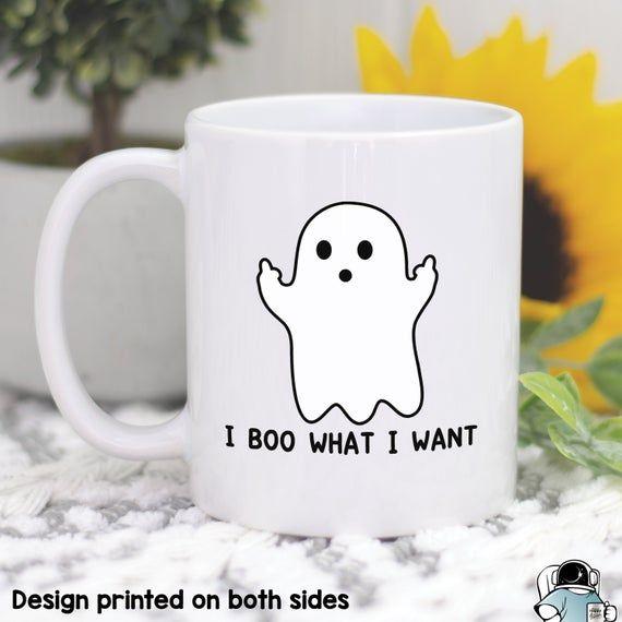 Halloween Mugs, Boo What I Want Ghost, Ghost Mug, Ghost Gifts, Halloween Gifts, Halloween Party Gift