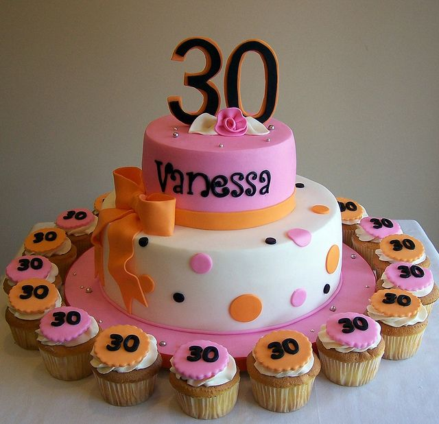 30th Birthday cake and cupcakes 30th birthday cakes 30 birthday
