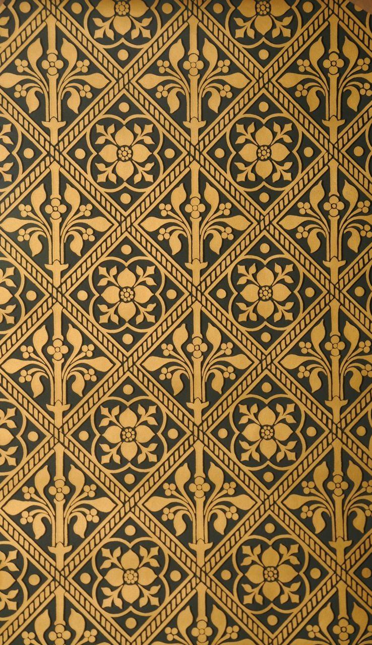 Trellis Wallpaper At Watts1874 Шаблоны печати Обои