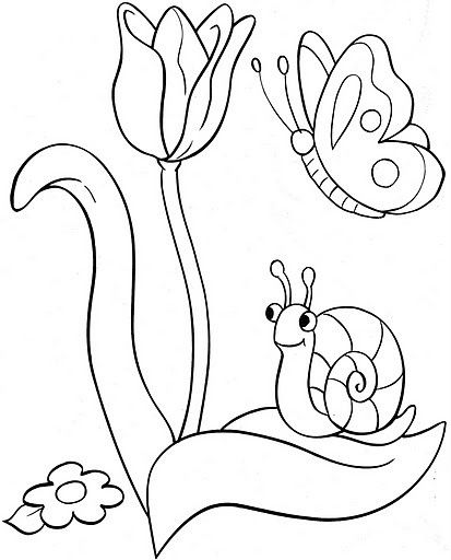 Coloring tulip snail embroidery pinterest - Coloriage tulipe ...