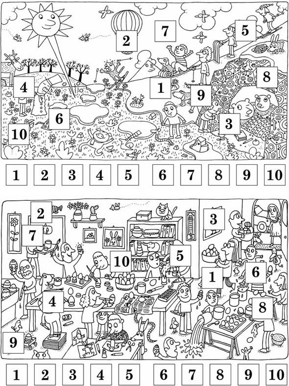 Welcome To Dover Publications Muslim Kids Activities Hidden Pictures Dover Coloring Pages