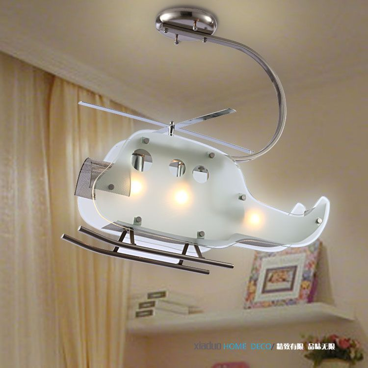 Childrens Light Fixtures: Childrens Helicopter Ceiling Light Fixture