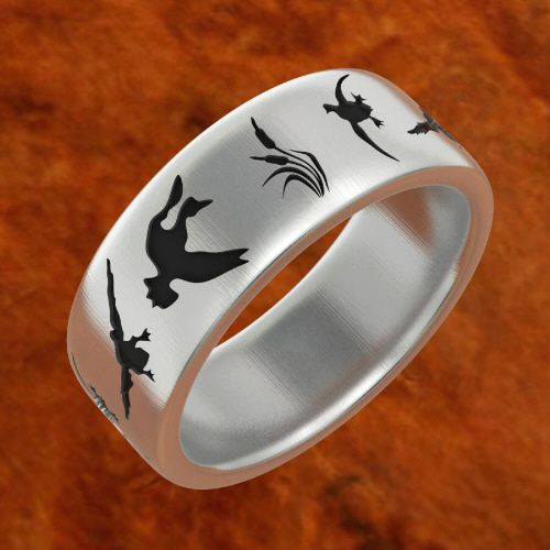 duck band rings DUCK WEDDING BAND Jewelry Pinterest Best