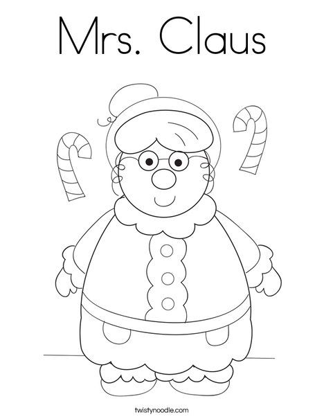 Mrs Claus Coloring Page - Twisty Noodle Christmas Pinterest - new christmas coloring pages for preschoolers printable