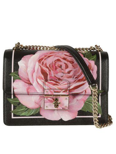 DOLCE & GABBANA Dolce & Gabbana Print Rose Shoulder Bag. #dolcegabbana #bags #shoulder bags #leather #