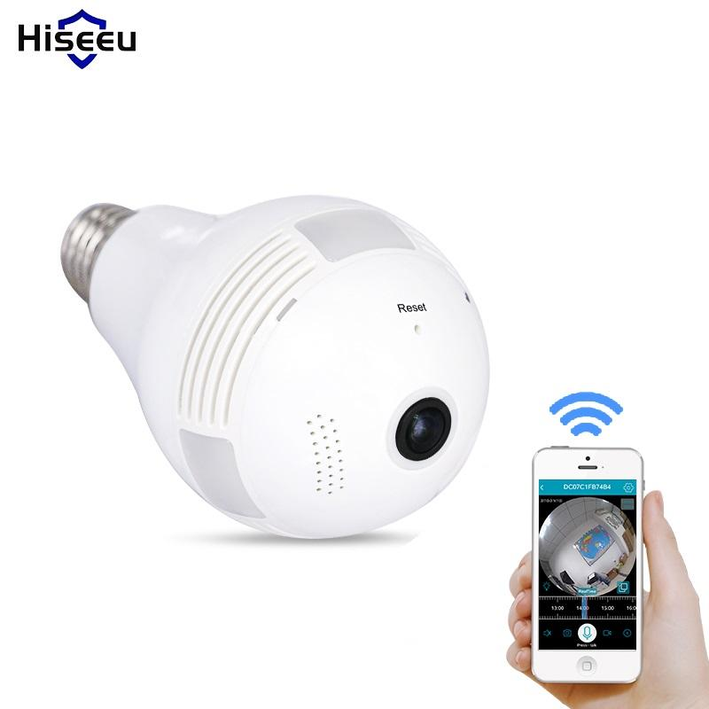 Camera 360 Degrés >> Hiseeu Hd 360 Home Security Bulb Light Wifi Camera