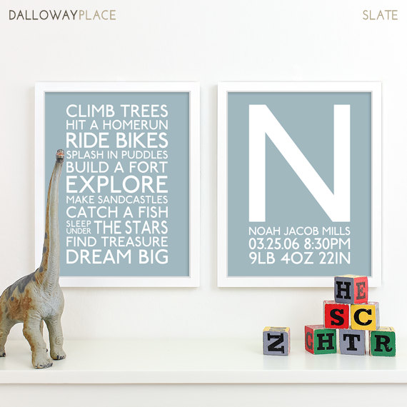 Baby Boy Art Nursery Playroom Rules By Dallowayplace 34 00
