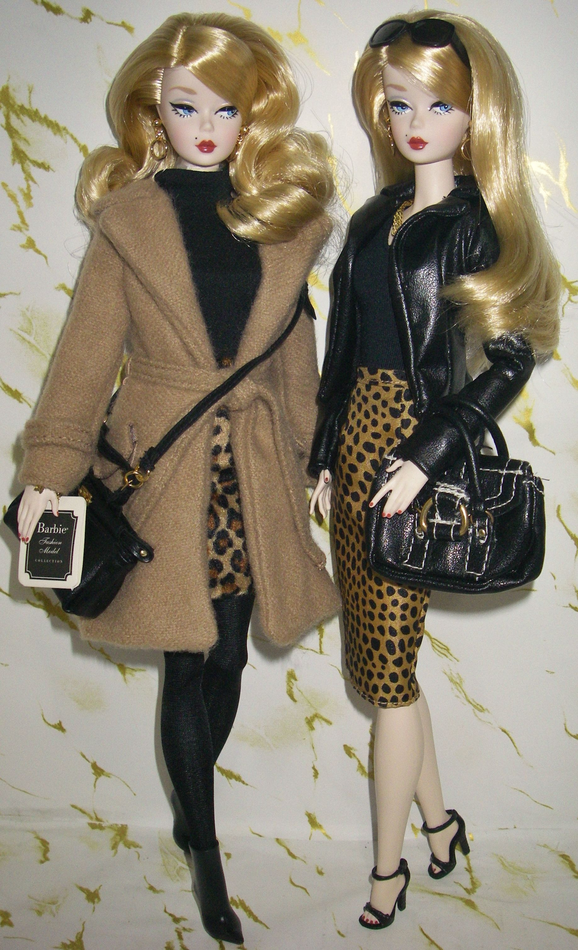 Barbie fashion HANDMADE vintage mod contemporary blouse w// collar BLACK