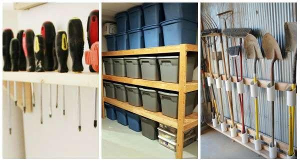 14 Idees De Rangements Pratiques Pour Un Garage Impec Idee Rangement Rangement Rangement Garage