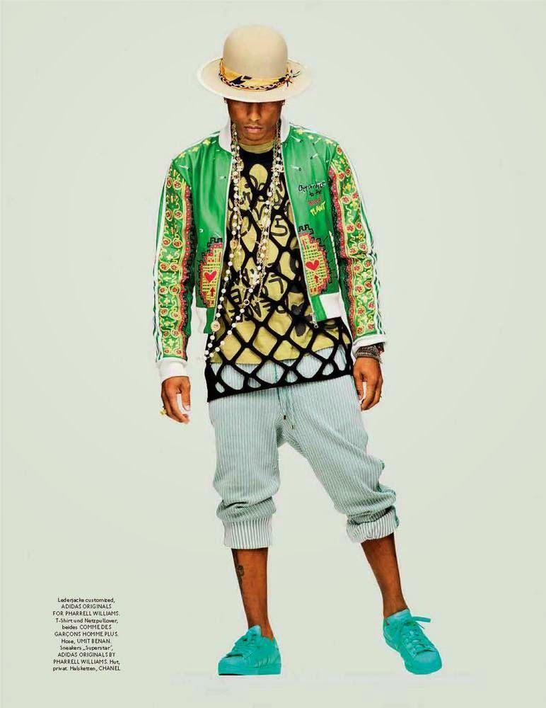 768eb309e04 Pharrell Williams para GQ Style Alemania Spring Summer 2015 in 2019 ...