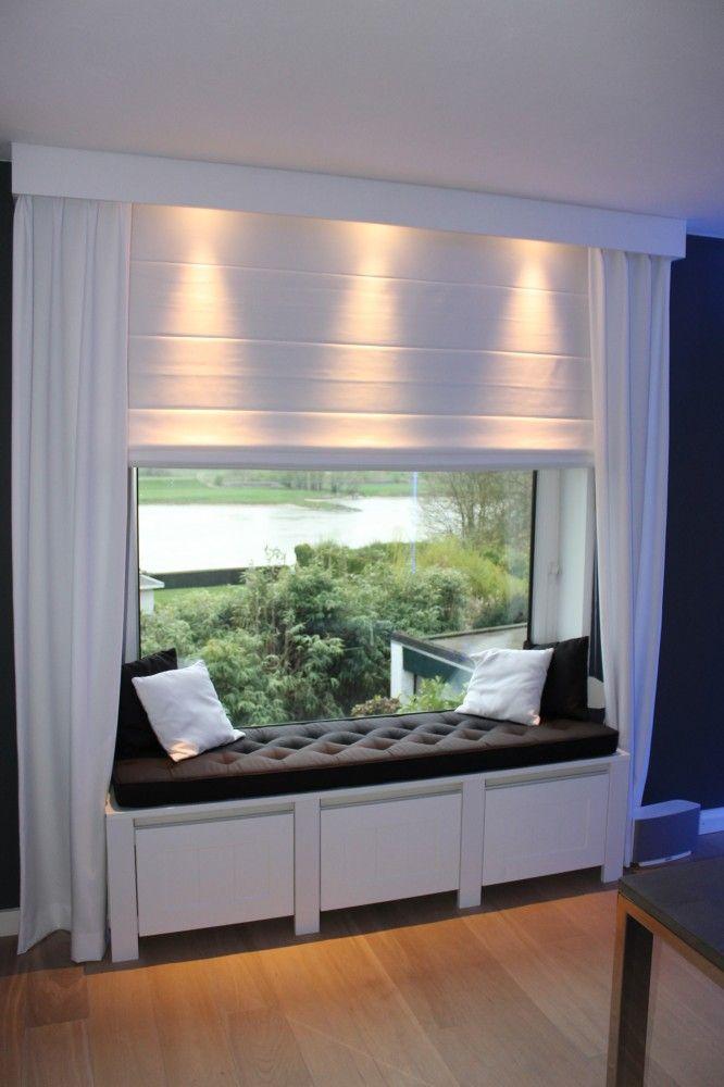 radiator ombouw, idee zitje dakkapel Meisjes kamer