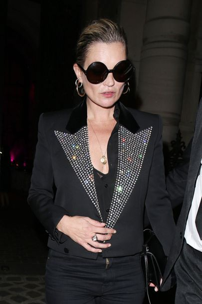 Kate Moss Brings Back The Disco Jacket At Paris Couture Fashion Week | British Vogue