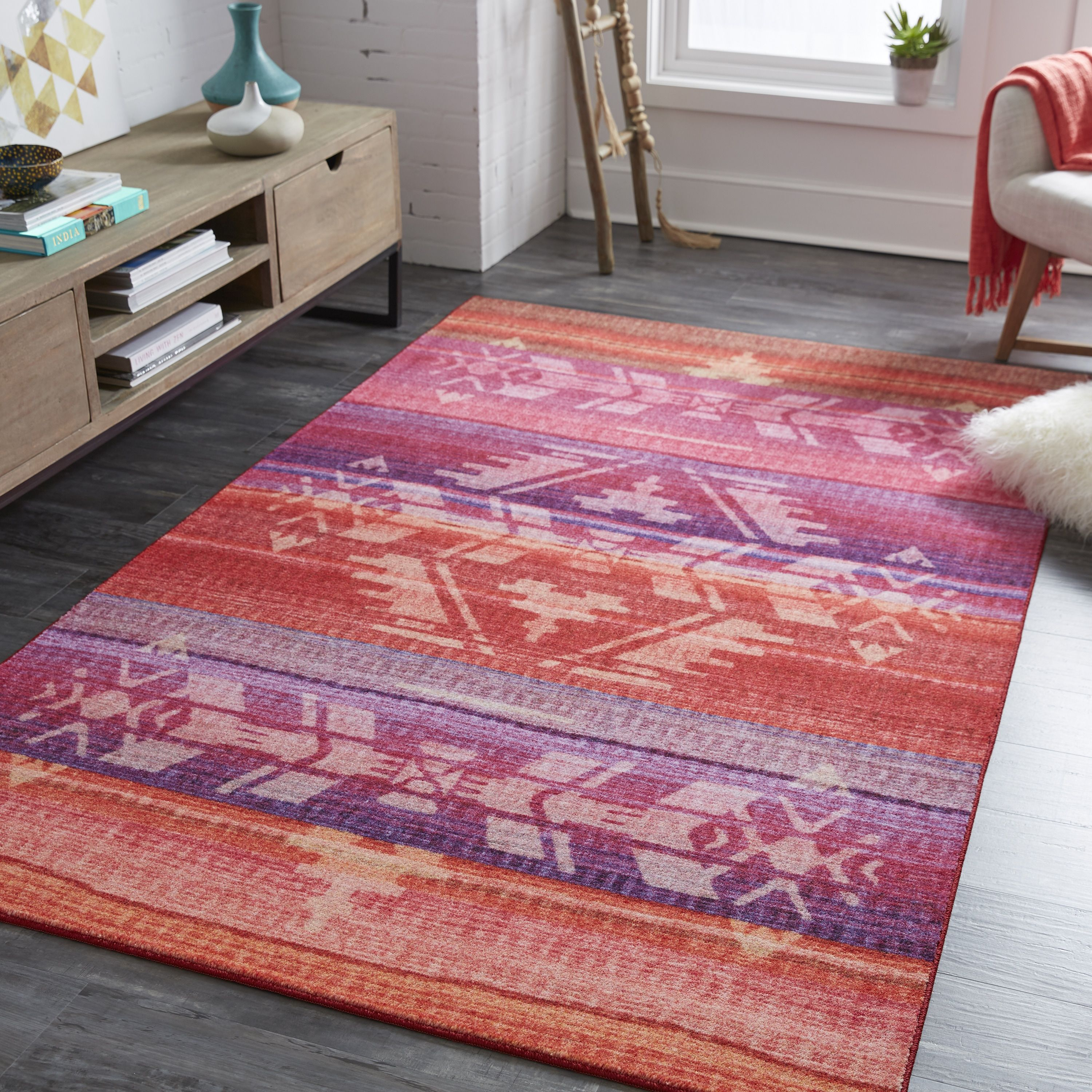Mohawk Home Prismatic Tribal Blanket Area Rug 8 X10 8 X 10