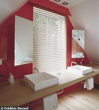 Plan Vasque Devant Fenetre Meuble Vasque Deco Salle De Bain Amenagement Maison