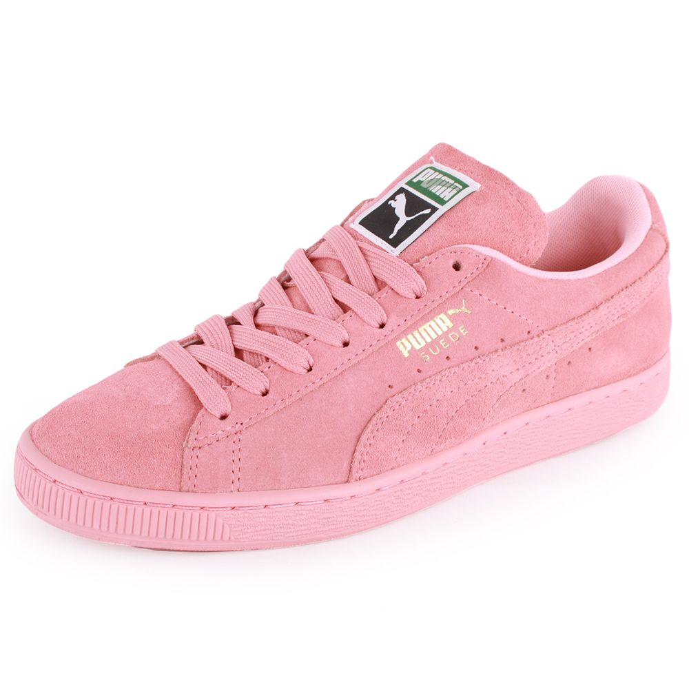 Puma Suede Classic Womens Suede Trainers Light Pink New Shoes All Sizes |  eBay