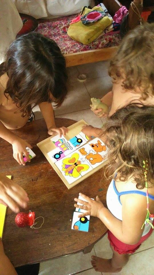 Las chicas disfrutando el #Maxipuzzle en el #Monte!!!! #Indigo en #Accion