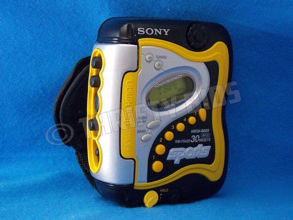 Sony Sports Walkman AM/FM Radio Cassette Player Yellow WM