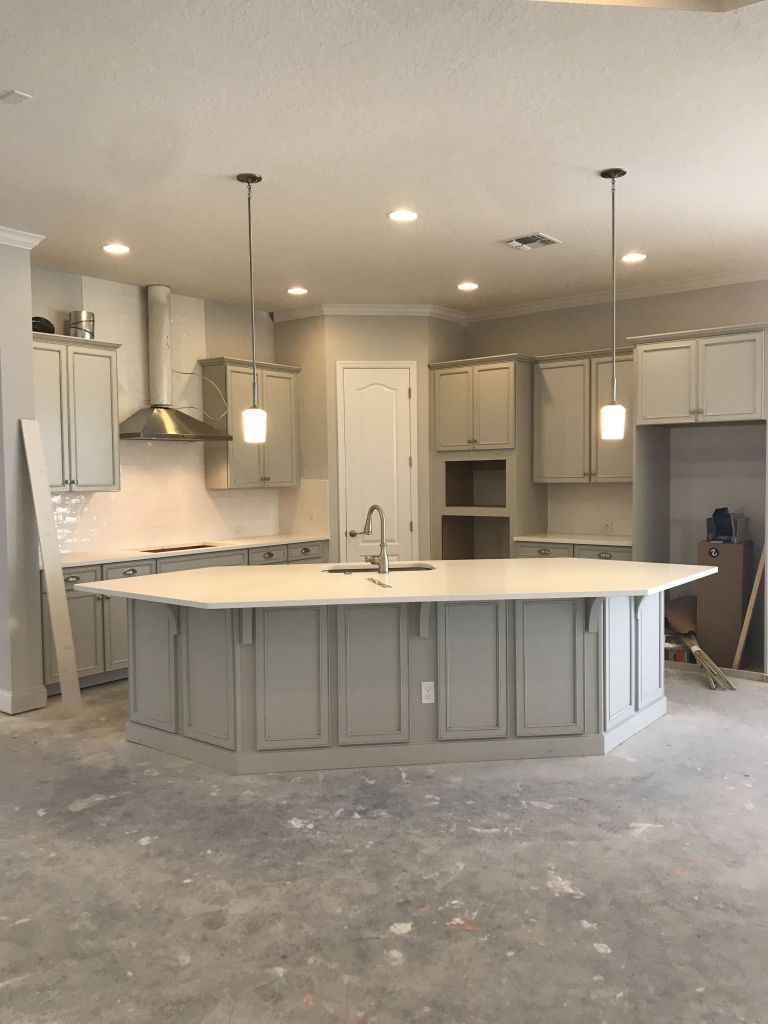 The End Of Angled Kitchen Island Ideas Layout 9 ...