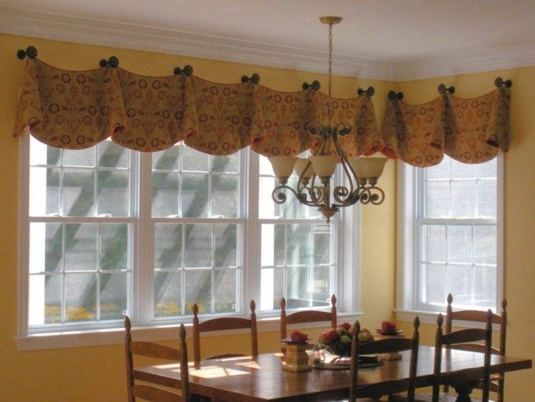 Attrayant Modern Valances For Kitchen Windows Dining Room Valance Ideas Cafe Curtains  Di